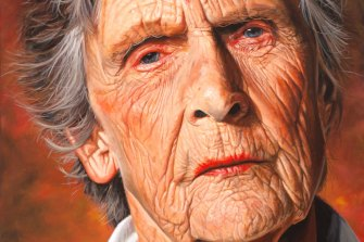 David Darcy's painted portrait of environmental campaigner Wendy Bowman.