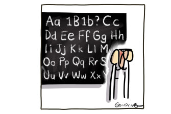 Matt Golding cartoon on teachers asking for the COVID-19 vaccine.