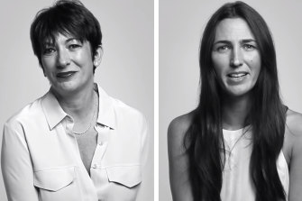Ghislaine Maxwell, left, and Katherine Keating in publicity photos for their 2014 interview.