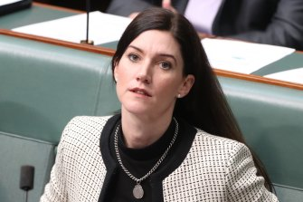 Nicolle Flint during question time at Parliament House.