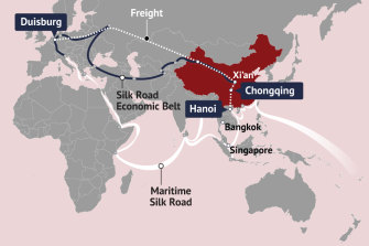 Rail routes to Europe from China form part of the Belt Road Initiative.