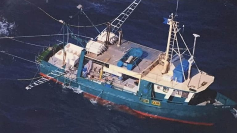 The sunken fishing trawler Dianne was found by sonar  near the town of Seventeen Seventy and two bodies were recovered from the wreckage.