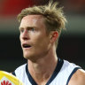 Alex Keath was traded from Adelaide to the Western Bulldogs on Wednesday.