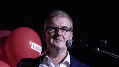 NSW Opposition Leader Michael Daley concedes defeat on election night on Saturday.