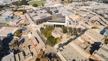 A concept image of the soon to be completed Kings Square redevelopment in Fremantle.