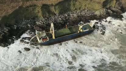 'Ghost ship' washes ashore in Ireland after more than a year at sea