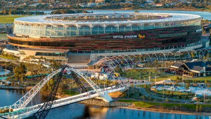 Optus Stadium claims top gong as world's 'most beautiful' sporting facility