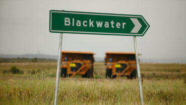 Blackwater is a small mining town, west of Rockhampton.