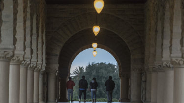 Students at California's Stanford University.
