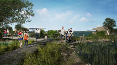 Walking trails and a conservation zone are included in the revised plan for Cleveland's Toondah Harbour.
