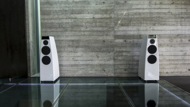The sound from Meridian's DSP5200SE speakers is awesome, in the true sense of the word.