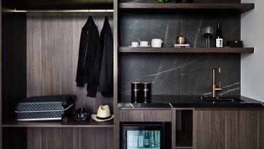 Images of the room offerings at the new Marsden Hotel, a luxury 90-room boutique hotel in Sydney's Burwood.