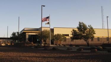 The entrance of a Border Patrol station in Clint, Texas.