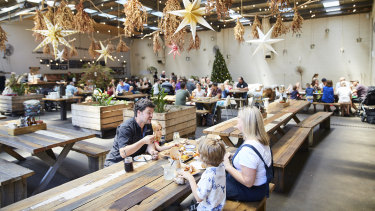 Inside Red Gum BBQ , Australia's first B-Corp restaurant.