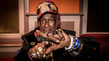 Jamaican reggae singer and producer Lee 'Scratch' Perry, pictured here in 2018, has died at 85.