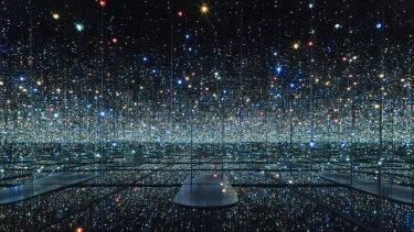 Kusama's Infinity Room, made with mirrors reflecting mirrors.