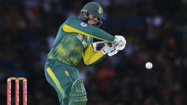 Solid knock: Quinton de Kock's 87 set up an easy win for South Africa.