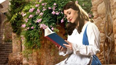 High school drama teacher Charlotte Gearside as Belle.