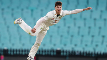 Australian bowler Mitchell Swepson struggled to make an impact against India at the SCG.