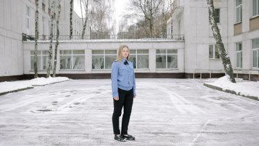 Nina Loguntsova, 17, at her Moscow school.