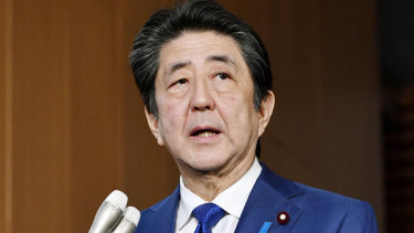 Increasing debt to shore up economy: Japan's Prime Minister Shinzo Abe.