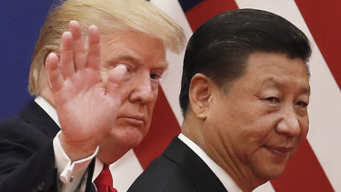 The US-China trade war continues to cast a shadow over world markets.