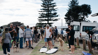 The car park fronts one of the best right-hand surf breaks in Australia.