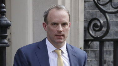 Britain's Secretary of State for Foreign Affairs, Dominic Raab.