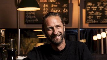 """""""It's up to us now"""": Justin Hemmes at his venue Bar Topa, which is geared towards older diners and drinkers."""