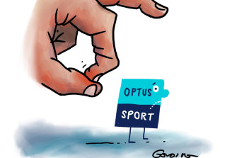 Optus Sport has been flicked aside by a newcomer.
