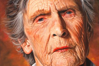 The National Portrait Gallery may have closed its physical doors but art lovers can still check out the finalists in the Darling Portrait Prize, including David Darcy's portrait of environmental campaigner Wendy Bowman.