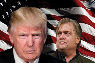 US President Donald Trump and his former strategist Steve Bannon.
