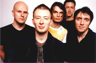 Radiohead in 1997, the year OK Computer was released.