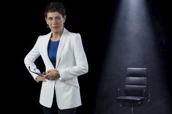 Jennifer Byrne hosts Celebrity Mastermind Australia.
