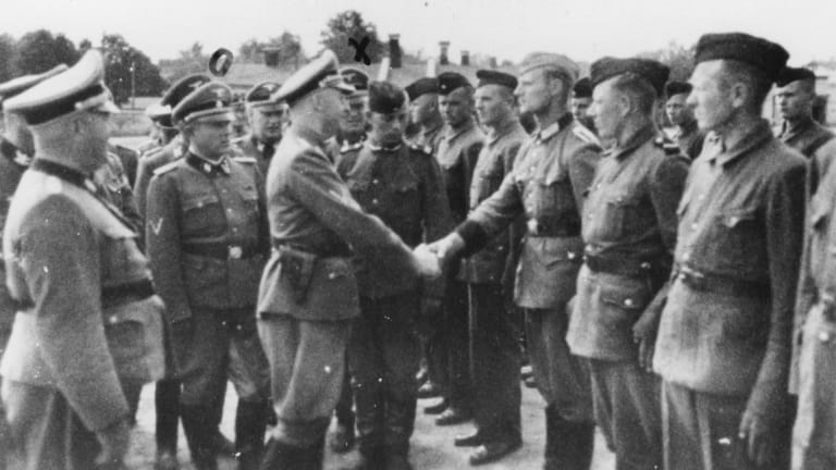 Nazi recruits at the Trawniki concentration camp where Jakiw Palij trained and served as a guard.