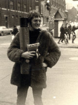 Peter Thompsett on his way to Woodstock in 1969.