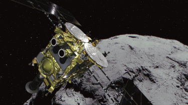 The asteroid and asteroid explorer Hayabusa 2 was released by the Japanese unmanned spacecraft Hayabusa2.