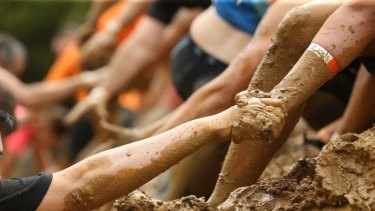 The Tough Mudder is about teams helping each member to finish.