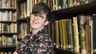 Lyra McKee who was shot and killed when guns were fired during clashes with police in Londonderry, Northern Ireland.
