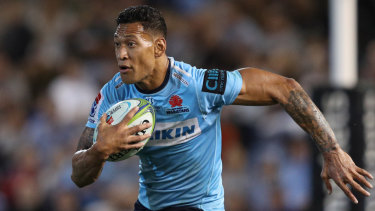 Out: Israel Folau is facing the sack from both the Waratahs and Wallabies.