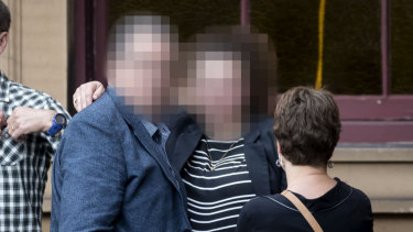 The former staff member from The Armidale School outside court.