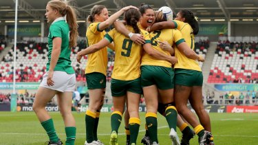 Brushed: Ireland turned down an invitation to play Test match double-headers against the Wallaroos this month.