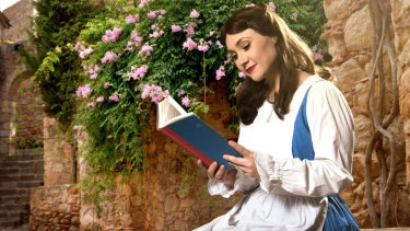High school drama teacher Charlotte Gearside as Belle.