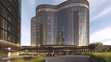 Renders of the $130 million Hotel Chadstone Melbourne, MGallery by Sofitel, owned by Vicinity and Gandel.