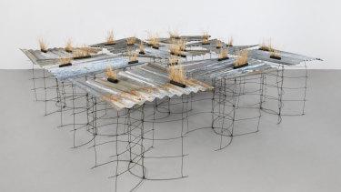 Wendy Teakel, <i>Paddock Remnant </i>in <i>Land trace</i> at Beaver Galleries.