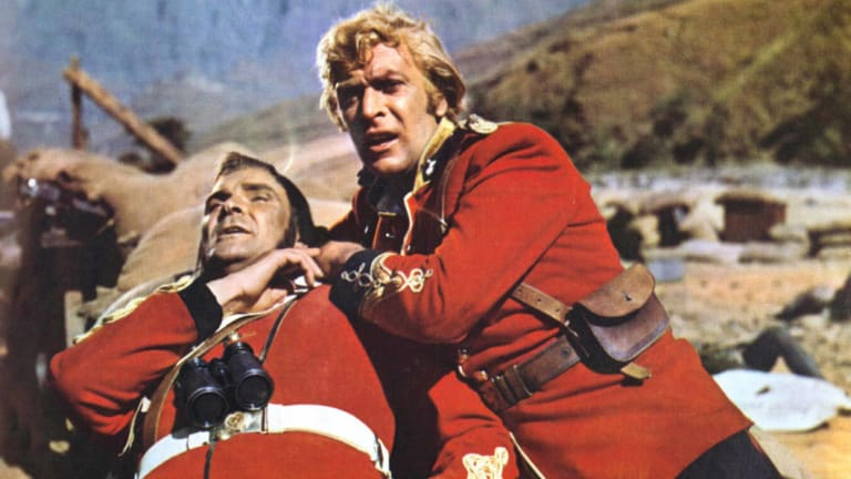 Peter Dutton and Tony Abbott dealing with African crime? No, Stanley Baker and Michael Caine in <i>Zulu</i>.