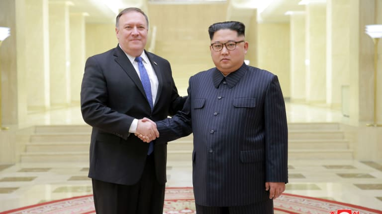 US Secretary of State Mike Pompeo met with North Korean leader Kim Jong-un on May 10.