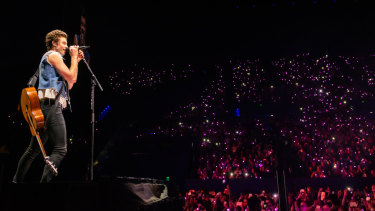 Shawn Mendes performs on the Perth leg of his 'The Tour 2019'.