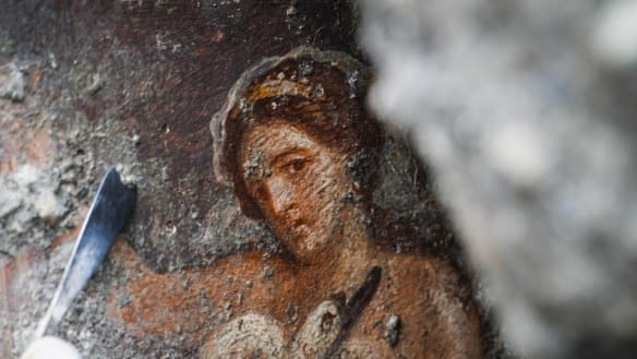 Pompeii erotica: Sensual fresco discovered in ancient bedroom