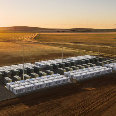 The Hornsdale mega-battery in South Australia was the biggest in the world when it was built.